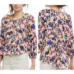Maeve Floral Peasant Blouse Panseyfield Top